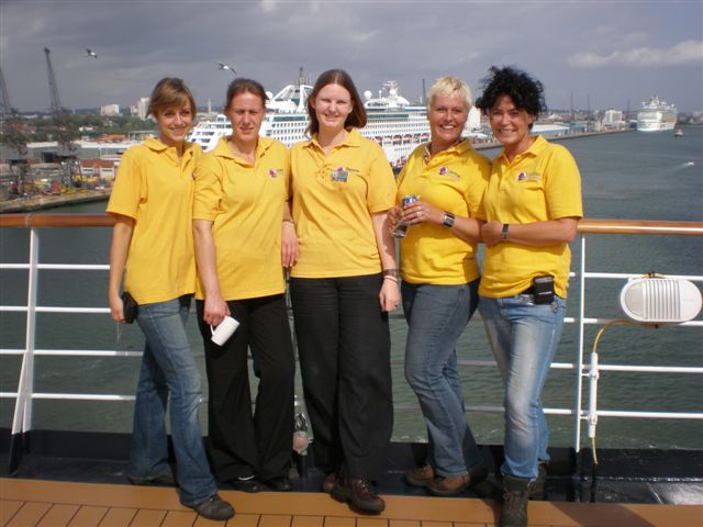 five of dianthus international florists on cruise ship