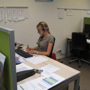 dianthus international employee at desk